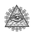 masonic symbol engraving vector image