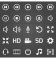 Media interface icon on black background vector image vector image