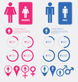 Men and women gender signs set vector | Price: 1 Credit (USD $1)