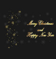 merry christmas text design background alphabet vector image
