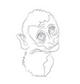 monkey portrait lines vector image
