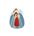 motherhood religion christianity blessing love vector image
