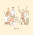 people celebrating achievement together vector image