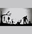 picture zombie party4 vector image vector image