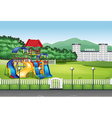 Playground in the middle of the field vector image vector image
