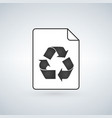 recycle file icon fat design editable stroke vector image