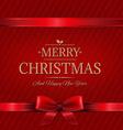 Retro Red Christmas Wall vector image