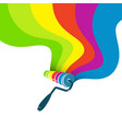 roller for painting with paint stains vector image vector image