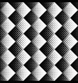 seamless black and white square pattern background vector image vector image