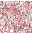 seamless pattern red autumnal leaves vector image vector image