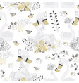 seamless pattern with couple swans hugging vector image