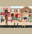 shopping women vector image vector image