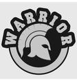 spartan warrior emblem vector image vector image
