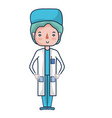 specialist doctor with medical uniform vector image vector image