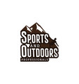 sport and outdoor logo inspirations mountain logo vector image vector image