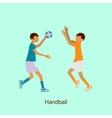 Sport people activities icon Handball vector image