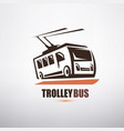 stylized cartoon trolleybus symbol city transport vector image
