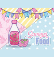 summer juice and food vector image vector image