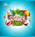 summer time holiday typographic on vintage wood vector image vector image