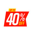 up to 40 percent off sale template isolated