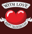 Valentine Heart with sign vector image vector image