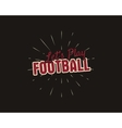 Vintage american football and rugby label emblem vector image vector image