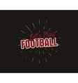 vintage american football and ruglabel emblem vector image vector image