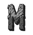 vintage gray letter m concept