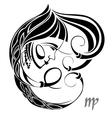virgo zodiac vector image vector image