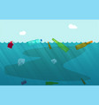water pollution concept with garbage trash vector image vector image