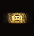 web banner happy new year 2020 vector image vector image