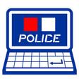 web police vector image vector image
