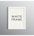 white 3d frame for A4 vector image