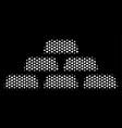 white pixel treasure bricks icon vector image