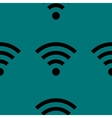 WI-FI web icon flat design Seamless gray pattern vector image vector image