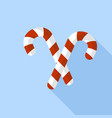 xmas candy stick icon flat style vector image