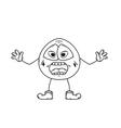 emoticon shout sketch vector image