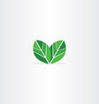 green leaves logo eco icon vector image