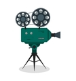 Professional Video Camera on the Tripod vector image