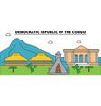 democratic republic of the congo outline city vector image