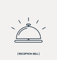 reception bell outline icon vector image