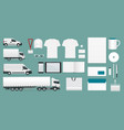 corporate identity template set branding design vector image