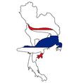 Crocodile Thailand vector image