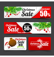 012 Collection of merry christmas santa tag banner vector image vector image