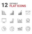12 diagram icons vector image vector image