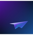 Abstract background with airplane vector image vector image