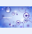 abstract background with bacteria vector image vector image