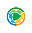 abstract circle technology logo vector image vector image
