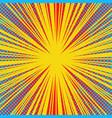 abstract explosive bright yellow background vector image vector image