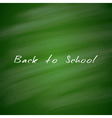 Back to School Green Chalkboard Background vector image